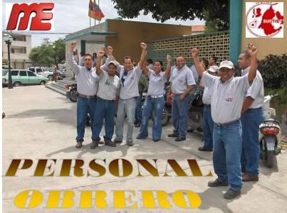 siempre informados con hubert: Personal Obrero del MPPE