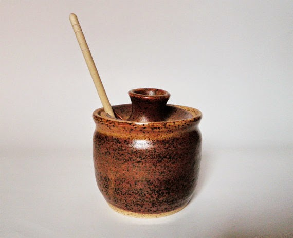 handmade ceramic honey pot Etsy