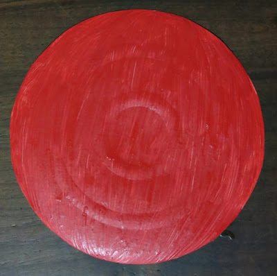 paint with true red acrylic
