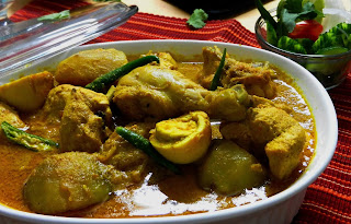 chicken, potato and egg curry