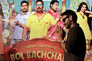 Ajay devgan & Abhishek at Ahmedabad for 'Bol Bachchan' Promotion