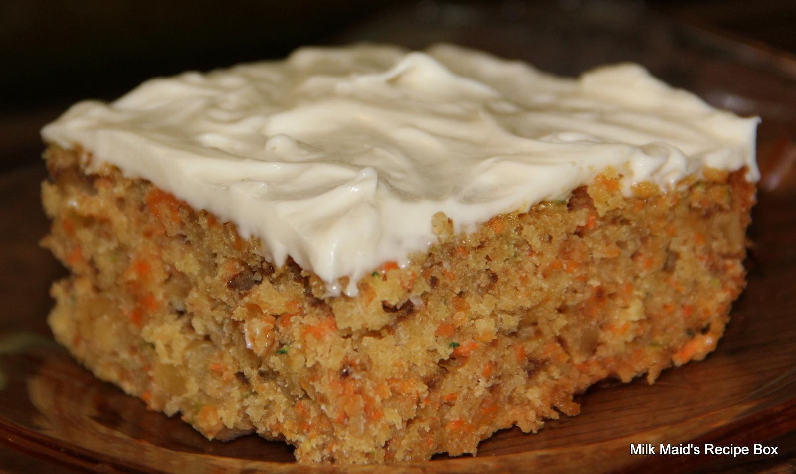Carrot Zucchini Bars Recipes — Dishmaps
