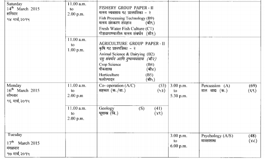 HSC Timetable Page 08