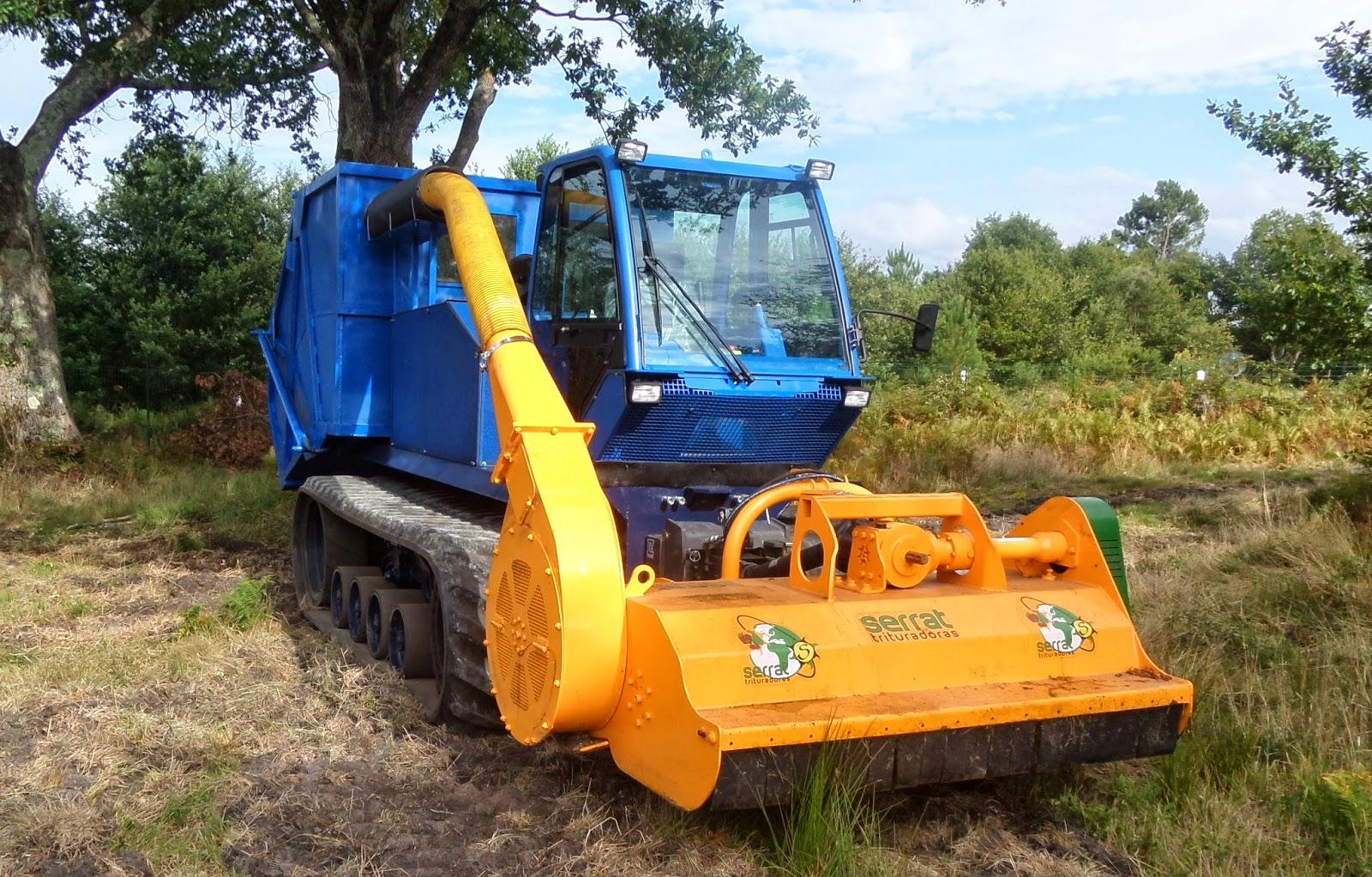 chenillard broyage exportation biomasse