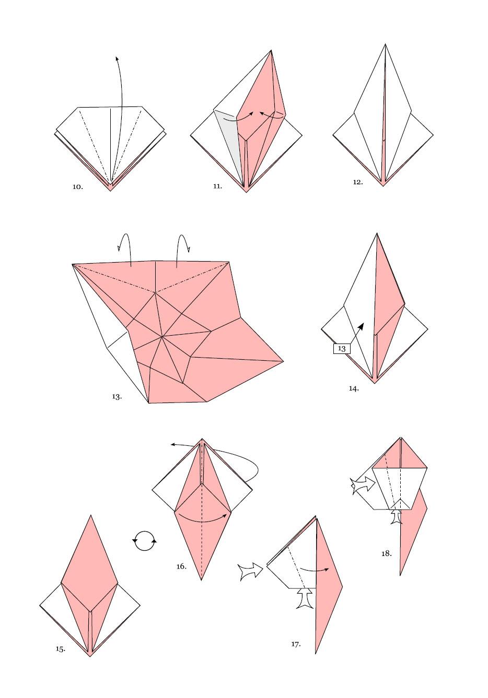 Как сделать оригами летающий журавлик