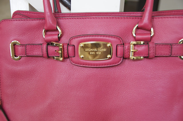 Michael Kors purse, Michael Kors magenta handbag