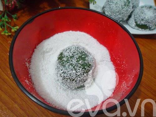 Cách làm bánh Mochi trà xanh nhân đậu xanh5
