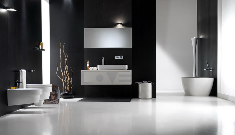 Decoraci n de ba os modernos ideas para decorar dise ar for Monochrome bathroom designs