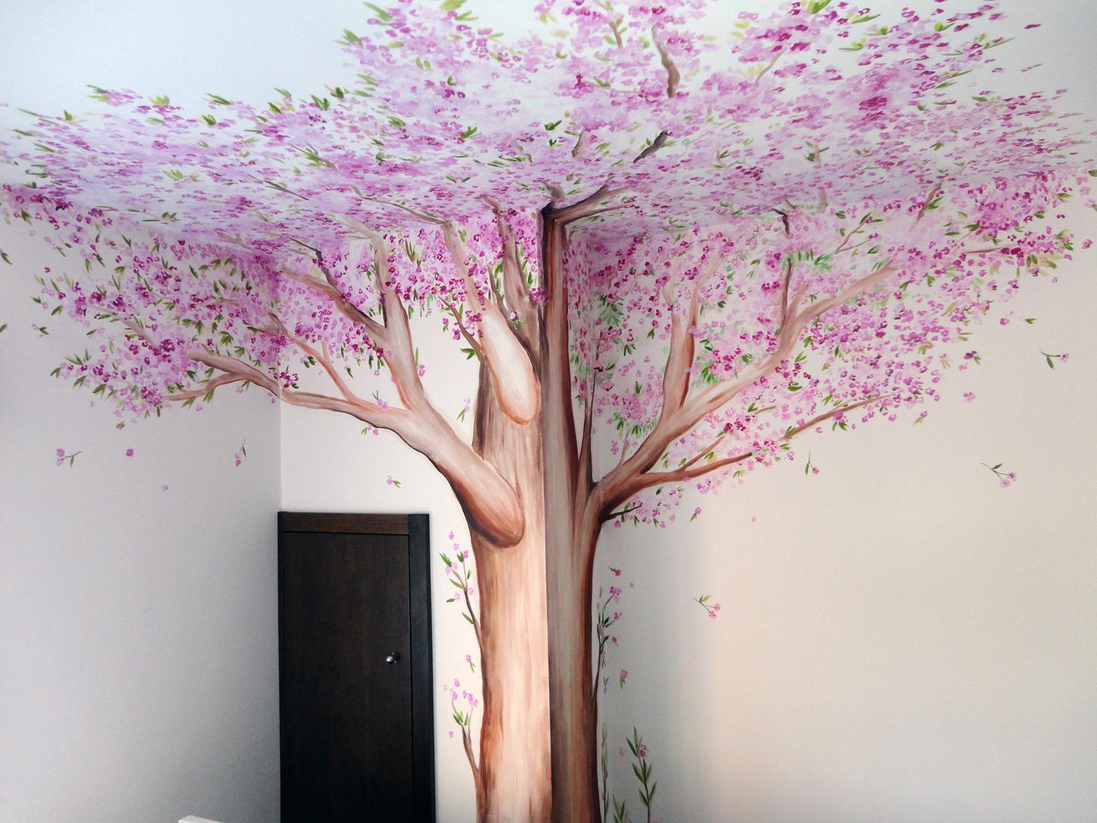 decopared arboles pintados en paredes
