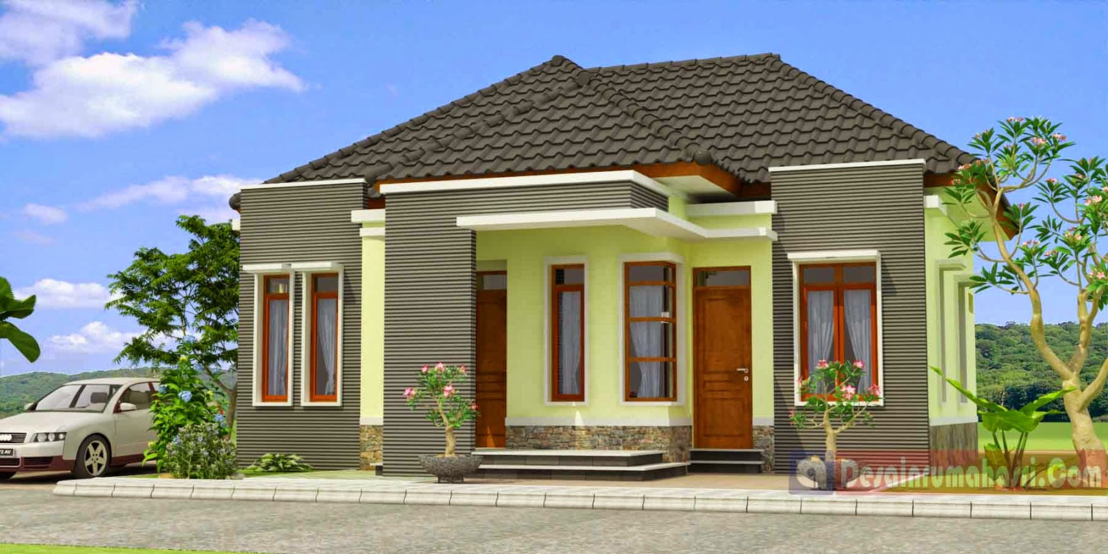 desain rumah sederhana 6x10 & Desain Rumah Sederhana 6x12 | Desain Rumah Minimalis Modern Type
