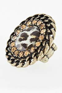 Leopard print ring