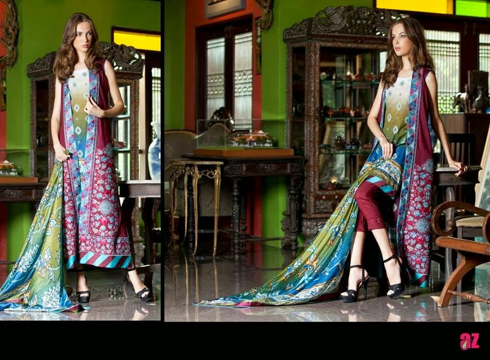 Printed Long Shirt Lawn Dresses