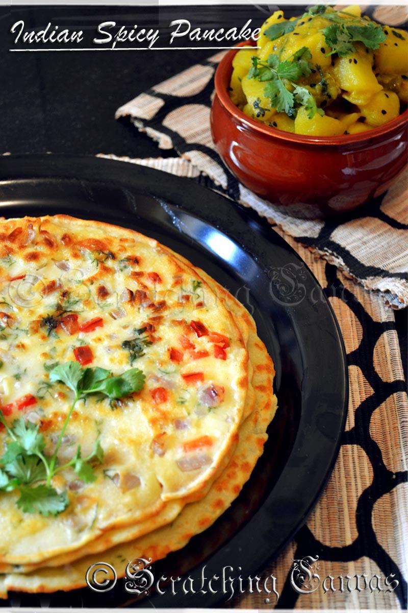 Spicy indian savory egg pancake indian egg pancake forumfinder Gallery