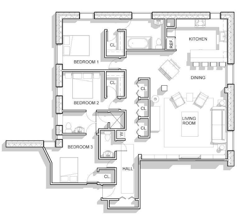 Proposed Apartment Layout title=