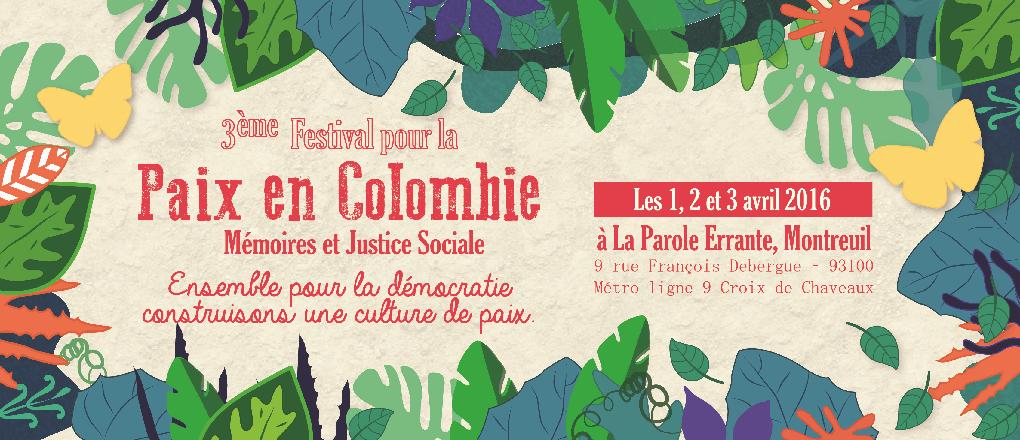 Festival pour la paix en Colombie