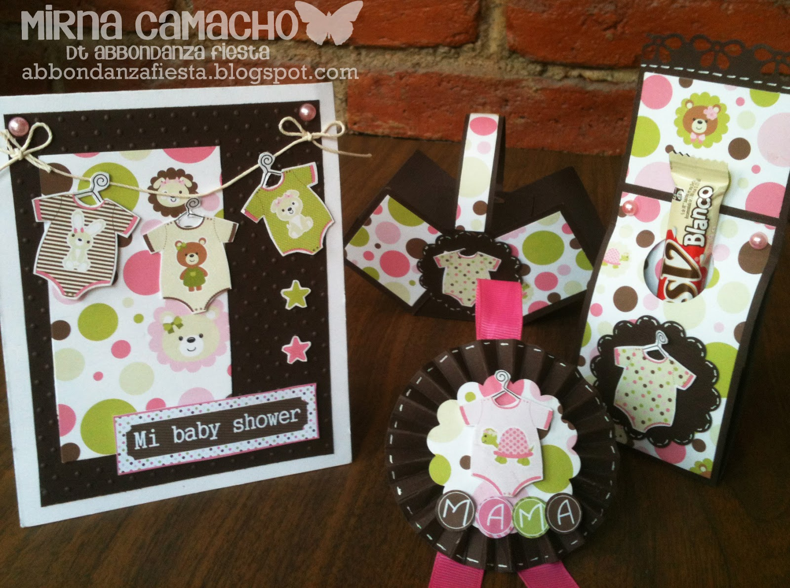 Kit para baby shower de ni a abbondanza fiesta papel - Fiesta baby shower nina ...