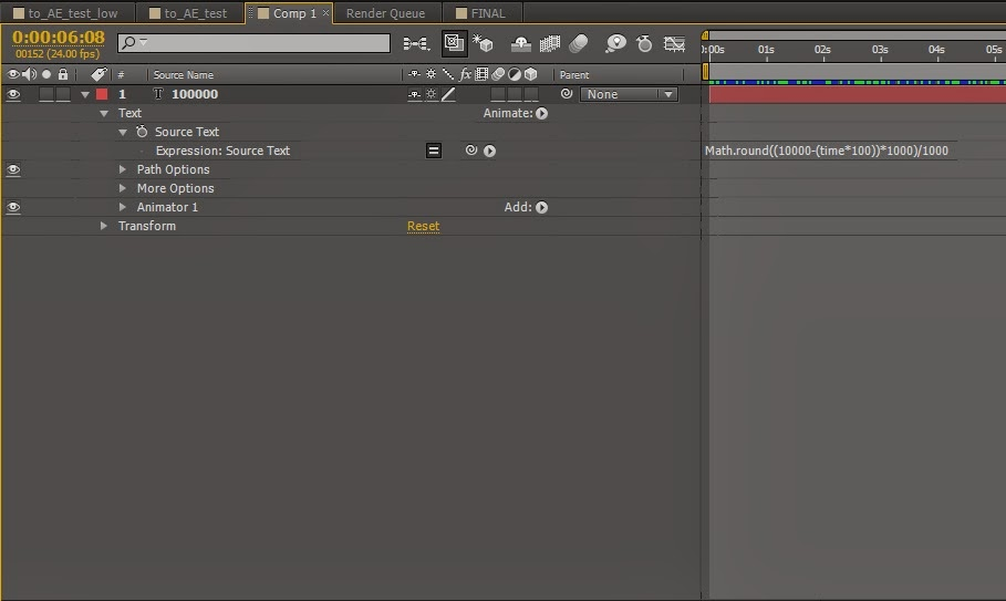 after effects how to create a comp from solids