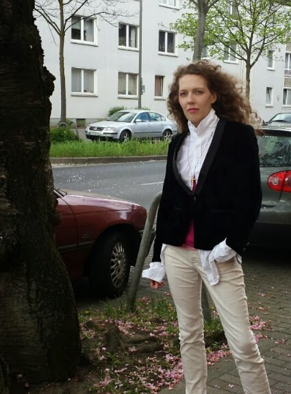 H&M Blazer, Smokingjacke, Angela Gäde