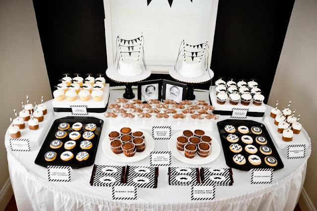 Movember black  white Barber Moustache/Mustache Bash party ideas