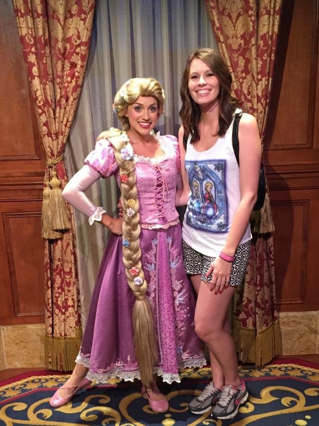 Disney World Recap - Magic Kingdom - Rapunzel was so sweet!