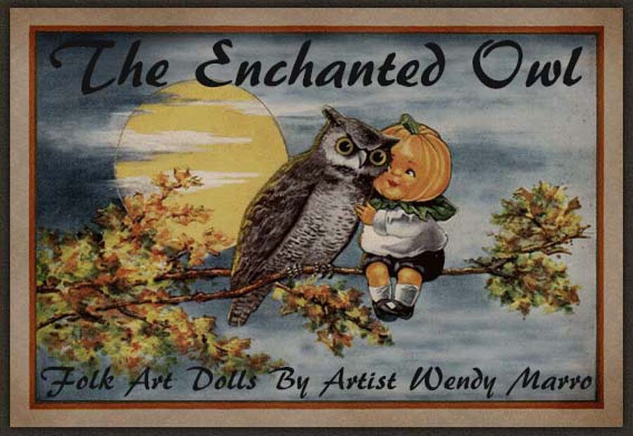 The Enchanted Owl Folk Art
