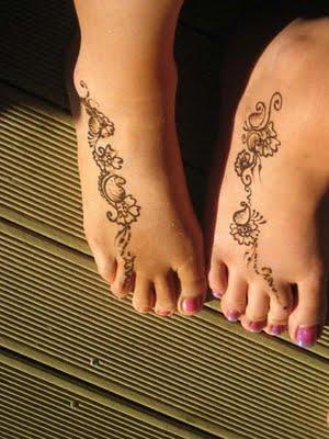 Girls Tattoo Design Simple Mehndi Designs For Feet