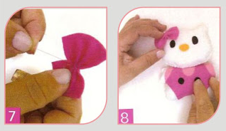 Cara Membuat Boneka Hello Kitty Mini dari Kain Flanel ...