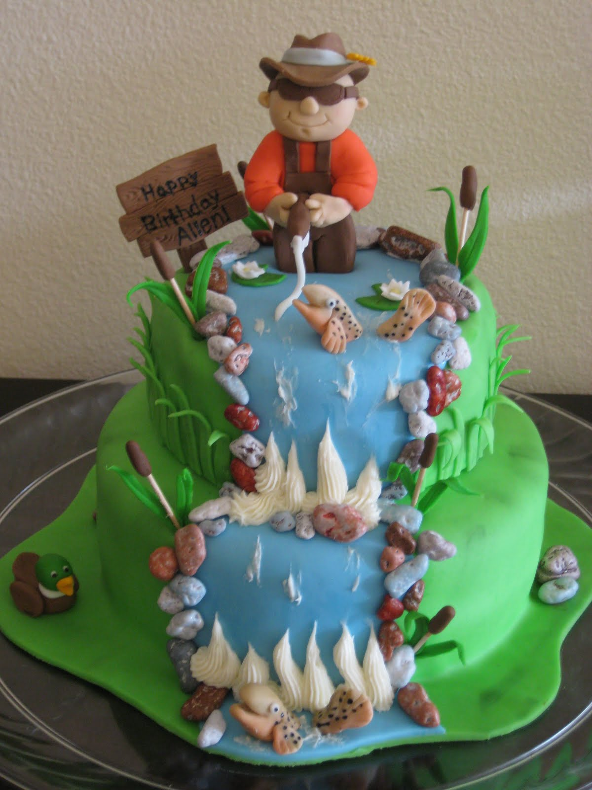 Bashert Cakes Fly Fishing Birthday Cake