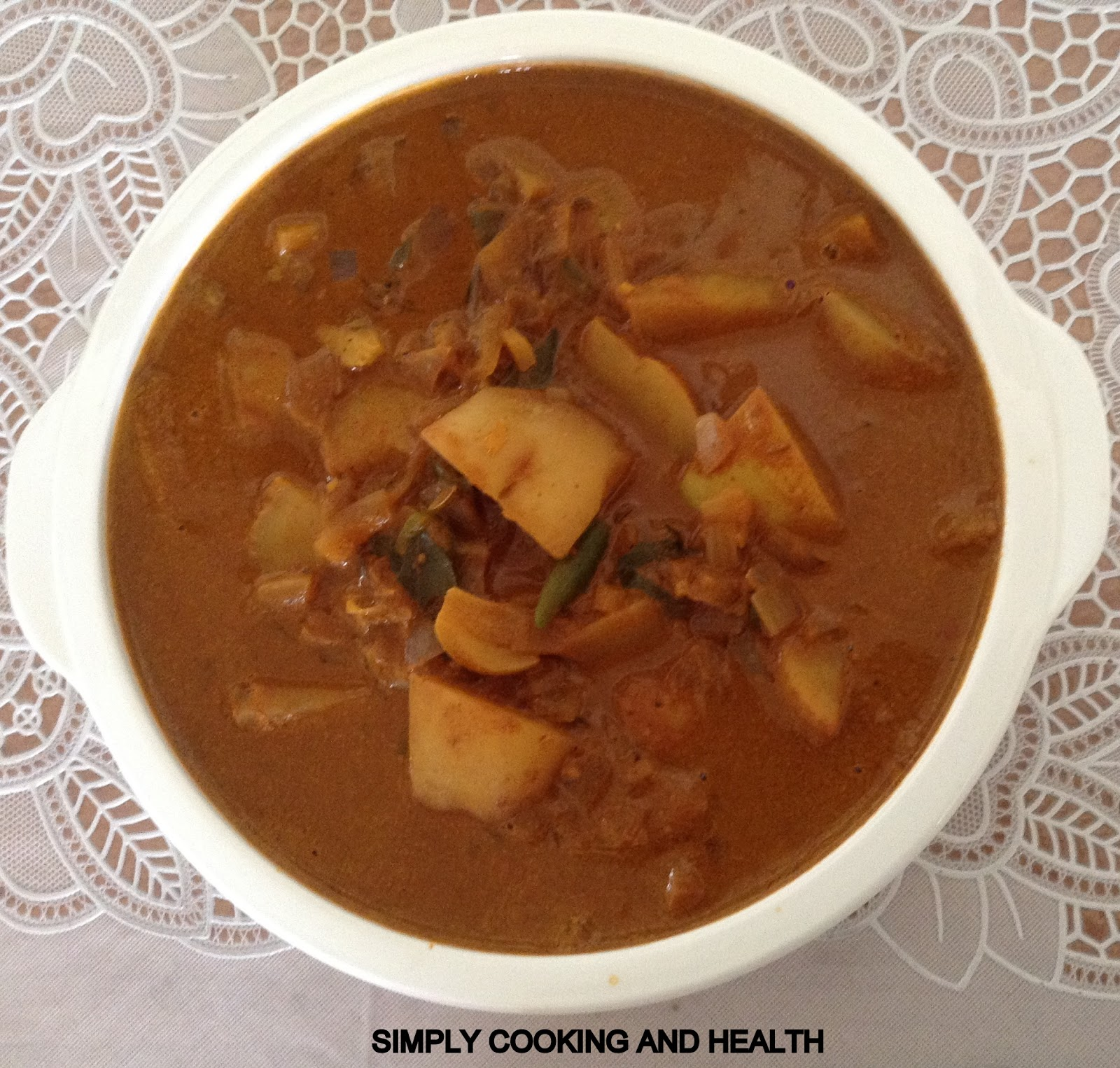 Simply Cooking and Health: Easy oil free spicy potato curry
