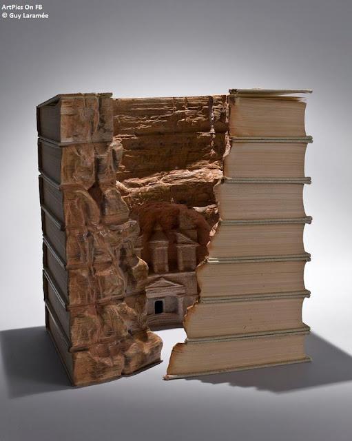 © Guy Laramée  Books Sculpture