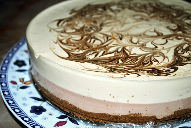 Ini Blog Amirah: Resepi CHOCOLATE & CAPPUCCINO CHEESECAKE~!