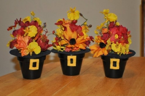 Love live celebrate inexpensive flower pot centerpieces - Thanksgiving decorations ...