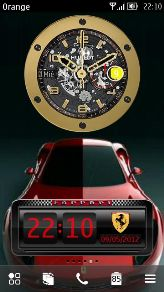 Hublot Ferrari Gold Clock Nokia Belle UnSigned By Mojoyoyo77
