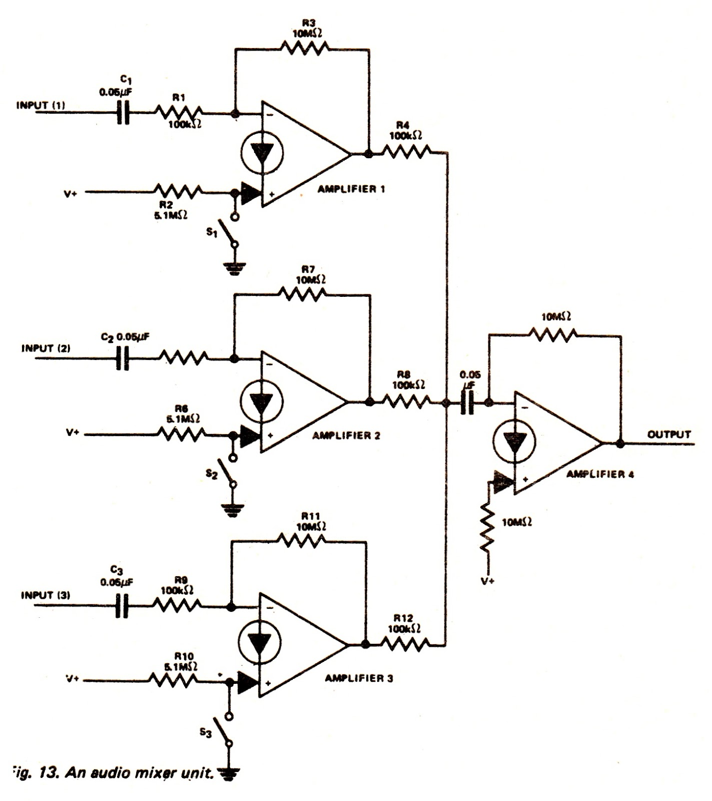 electronic mixer schematic