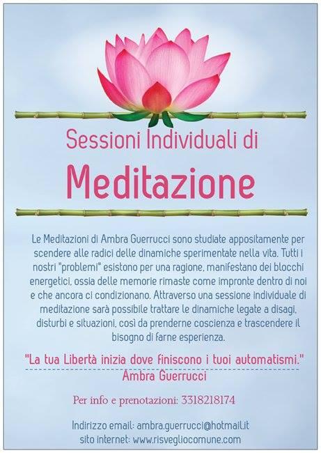 Sessioni individuali di meditazione