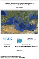 Costs and benefits arising from the establishment of maritime zones in the Mediterranean Sea.