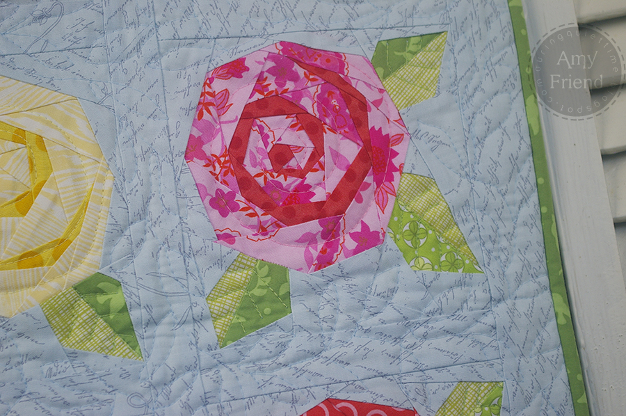 Rose Garden Table Runner During Quiet Time