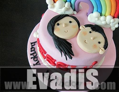 Picture of Couple Design Cake Closer View