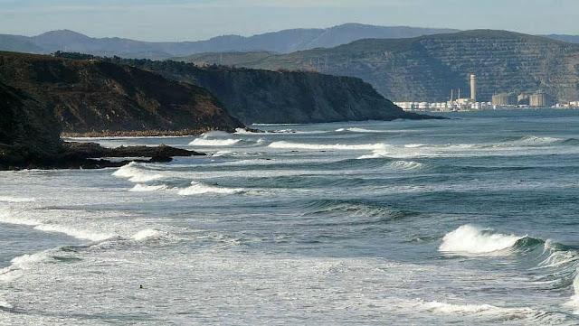 vista panoramica de la playa de sopelana