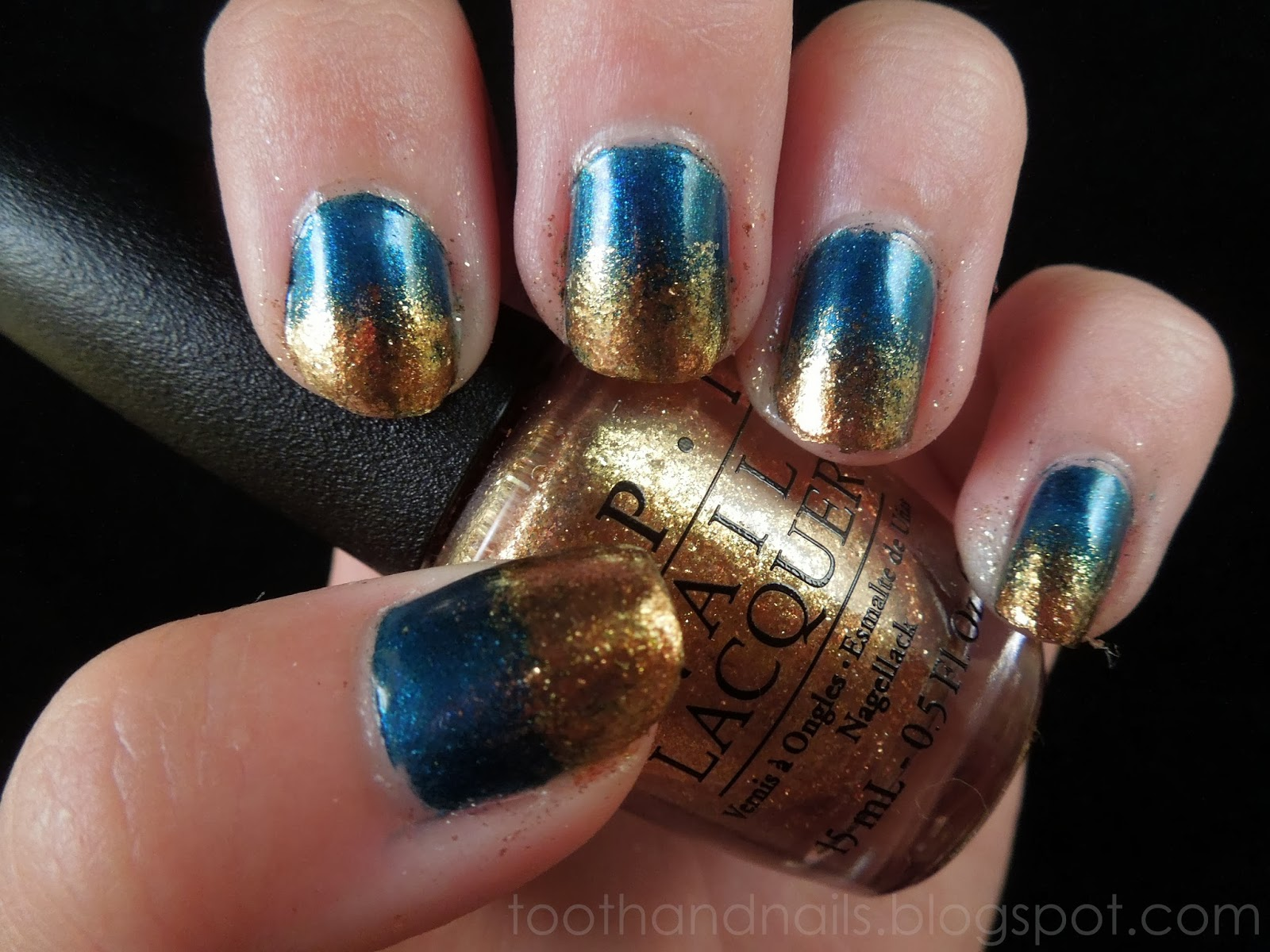 Tooth And Nails Blue Gold Gradient