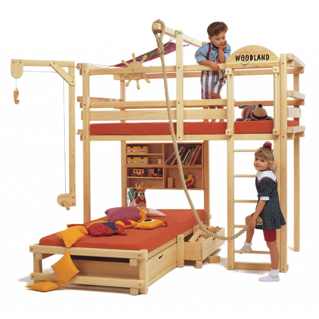 Bunk beds with slide and rope - Kids Bunk Bed With Slide Most Children Love Bunk Beds Or Loft Beds With Slide Swinging Rope Decorate My House