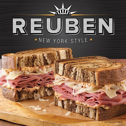 Arby's Reuben sandwich