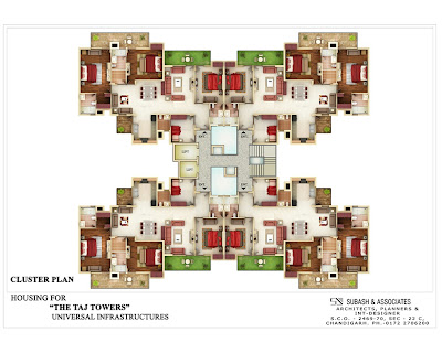 CLUSTER PLAN TAJ TOWERS