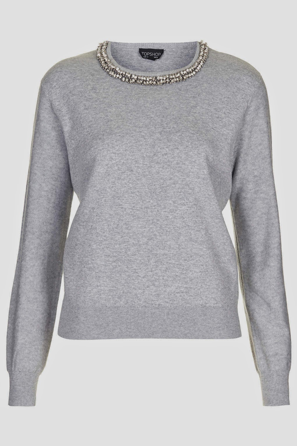 crystal neck jumper