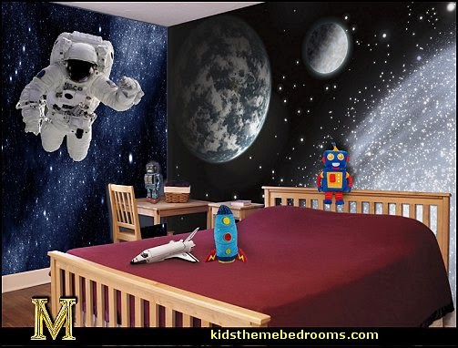 Decorating theme bedrooms maries manor outer space for Earth rising wall mural