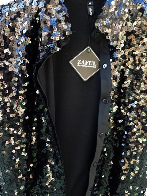 camicia nera con paillettes
