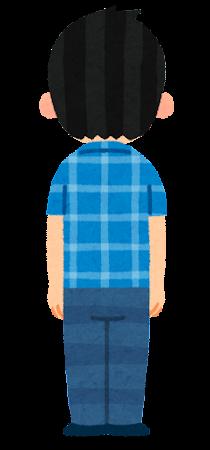 男性のイラスト(後ろ向き)