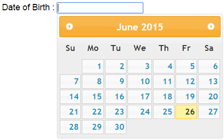 jquery datepicker in asp.net example