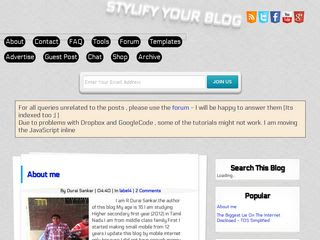 Stylify Your Blog Blogger Template