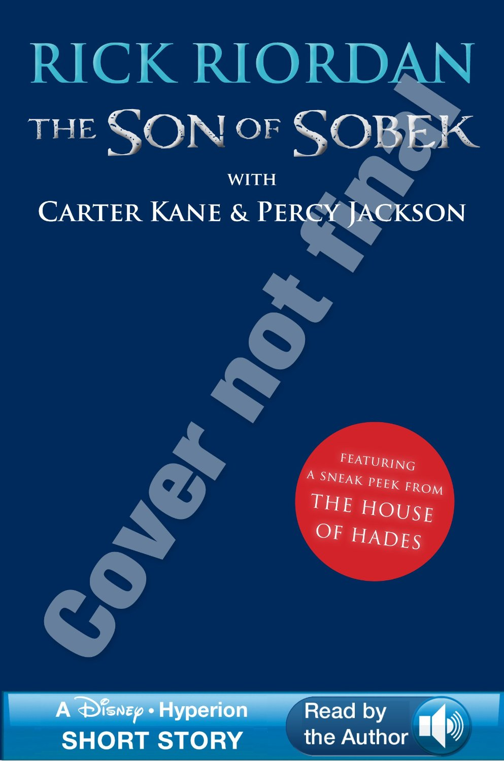 Portada no definitiva de The Son of Sobek